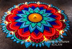 Easy Rangoli Designs Diwali, Indian Rangoli Designs, Rangoli Designs Latest, Rangoli Designs Flower, Small Rangoli Design, Colorful Rangoli Designs, Rangoli Patterns, Rangoli Ideas, Rangoli Designs Images
