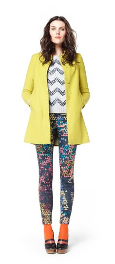 Loving the mish mash of colors and prints.