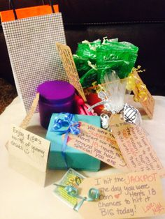 Fun Way To Celebrate 18th BirthdayI Had Gifts Delivered Each Of My Daughters Classes On Her Birthday I Attached Cute Notes That Went Along With