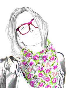 Illustration - pencil and pop of colour Color Pop, Colour, About Me Blog, Pencil, Illustrations, Creative, Anime, Art, Color