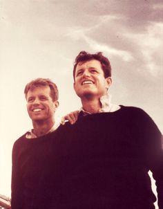Bobby and Teddy Kennedy