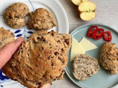 lækre sprøde grovboller Muffin, Breakfast, Morning Coffee, Muffins, Cupcakes