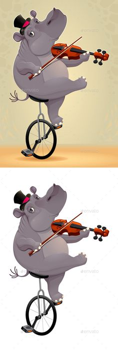 Hippo on an Unicycle
