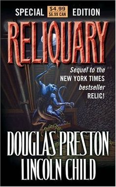 Reliquary - Pendergast #2. Sequel to The Relic - another great read! Fun, suspenseful, spooky while at the same time including science and history. I'm liking these books. 3.5 stars out of 5. sm