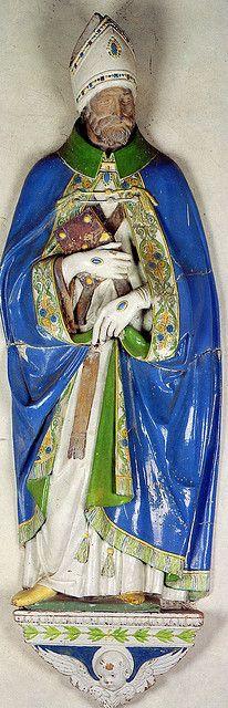 Andrea della Robbia e collaboratore -Sant'Agostino - 1505-1510 - Sansepolcro, Duomo