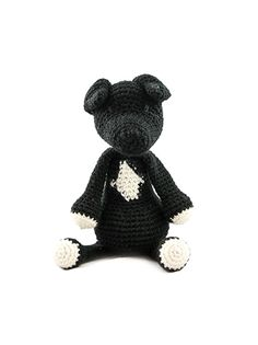 Part of the brand new collection of amigurumi crochet dogs designed by Kerry Lord. This amigurumi Staffie is crocheted in TOFT DK yarn and makes the perfect gift for adults and children alike. THIS KIT CONTAINS:  100g of DK Yarn in your choice (shown here in Black), with 25g of cream, all wrapped up in a TOFT cotton tote. To complete your toy you will need any stuffing plus a scrap of black thread for eyes. You can download the pattern in a universal A4 format from a link which will appear…