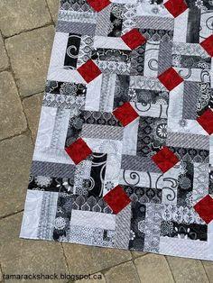 Tamarack Shack: Smoke and Fire Quilt - Tamarack Shack: Smoke and Fire Quilt - Colchas Quilting, Machine Quilting, Quilting Projects, Quilting Designs, Sewing Projects, Quilting Blogs, Quilting Tutorials, Quilting Ideas, Scrap Quilt