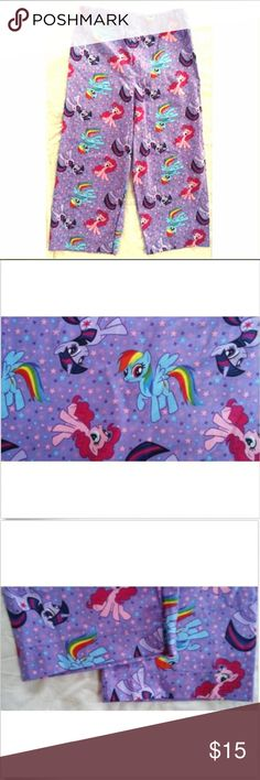 My Little Pony ~ Purple Pajama Pants Girl's 4 4T My Little Pony ~ Purple Pajama Pants Girl's 4 4T ~ Handmade Stretch Waist A New HandSewn pair of PJ Pants :) Girl's 4T Homemade My Little Pony Pants Measurements  (Laying Flat) Waist:25.00'' Inseam:18.50'' Length:27.50'' HandMade Pajamas Pajama Bottoms