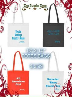 Everything totes      http://www.therusticshop.com/?store=rusticjo