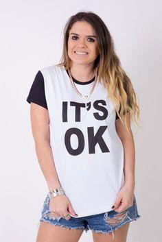 Camiseta Feminina It´s OK