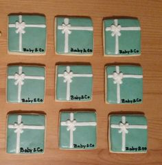 Tiffany's theme baby shower cookies
