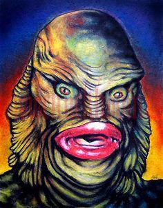 "Print 5x7"" - Creature from the Black Lagoon. $5.00, via Etsy."