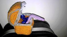 Crochet #36 : Patron sac de dés coffre mimic / Pattern mimic dice bag ~ Inside Uranus