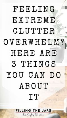 Want to live in an organized and comfortable home, but you're too overwhelmed by clutter to get started? Here are 3 steps you can take TODAY to control your clutter and start making progress toward a clutter-free home. Declutter Your Home, Organize Your Life, Declutter Bedroom, Clutter Organization, Office Organisation, Organizing Life, Organizing Ideas, Decluttering Ideas Feeling Overwhelmed, Deal Sites