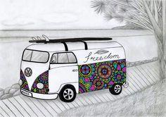 Noosa Kombi  #kombi #kombiart #noosa #sunshinecoast #art #beach #boho
