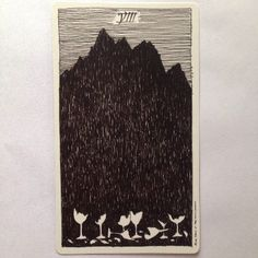 Meaning of the Eight of Cups, wild unknown tarot http://happyfishtarot.com/blog/eight-of-cups-wild-unknown-tarot/