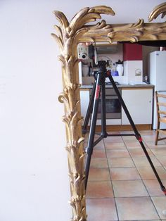 a reproduction palm mirror, made by Ruth Tappin