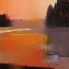 """These """"abstract"""" acrylic landscapes are by Massachusetts artist Irma Cerese . To see more of her work go to her website ."""