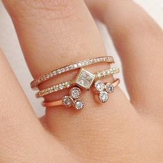 Pin for Later: 34 Real-Girl Ways to Style Your Wedding Ring Diamonds Come in All Shapes and Sizes