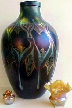 Massive Tiffany Studios Art Glass Vase