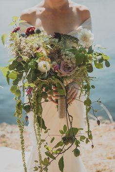 wild organic bouquet - photo by Jaquilyn Shumate http://ruffledblog.com/orcas-island-wedding-at-a-sawmill #weddingbouquet #flowers #bouquets