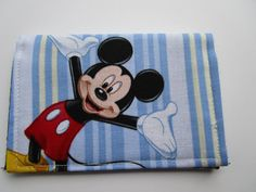 Mickey Mouse Wallet Disney Pass Holder Credit by KathieSewHappy