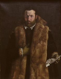 Portrait of a Man in a Fur-Trimmed Coat Italian (Lombard) Painter, about 1540