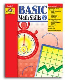 Grade 5 Basic Math Skills Workbook