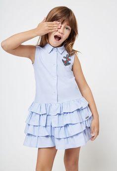 Conguitos lookbook SS18, colección de moda para niñas African Dresses For Kids, Little Dresses, Little Girl Dresses, Girls Dresses, Frocks For Girls, Kids Frocks, Toddler Dress, Baby Dress, Baby Girl Fashion