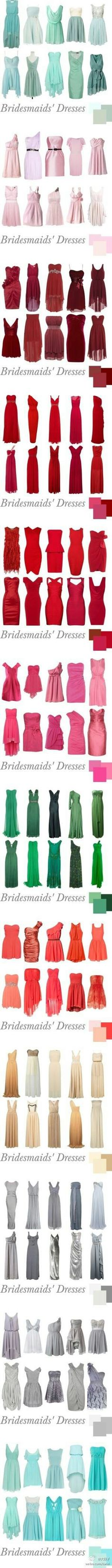 Dozens shades of gowns