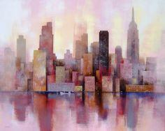 Mis Ciudades, de Malvehy Cities, Art Inspo, New York Skyline, Poster, Art Art, Places, Photography, Painting, Travel