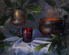 Conjuring by David Cheifetz Oil ~ 8 x 10