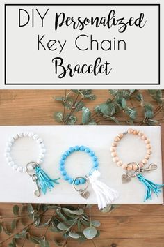 DIY Key Chain or Key Fob Bracelet - This simple craft is perfect to give  as a holiday gift this Christmas! It only takes a few minutes to make  one and it's a cheap but nice gift to give! Add them as stocking  stuffers or give them as part of a gift basket, or give it as a gift  alone! It's a usable gift that is made perfect through customization!  Make it perfect for the one you are gifting it to! #DIYgiftideas  #handmadegifts #stockingstufferideas #personalizedgifts