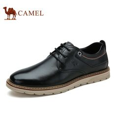 81.90$ Buy here - http://aliitm.worldwells.pw/go.php?t=32779088410 - Camel Men's Genuine Leather Shoes Popular Flat Laceing Leather Shoes