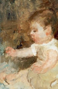 Jacob Maris - Portret van een baby