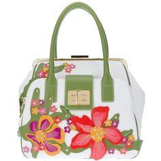 BRACCIALINI 'Clio' tote ($795) ❤ liked on Polyvore featuring bags, handbags, tote bags, purses, bolsas, borse, shoulder tote handbags, white shoulder bag, tote shoulder bag and handbags shoulder bags