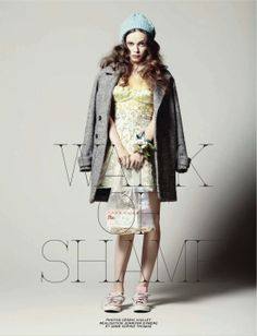 visual optimism; daily fashion fix.: prom ball, walk of shame: hailey gates by cedric viollet for jalouse october 2012