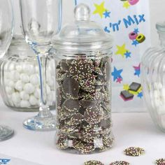 Filled Candy Jar with Snowies | Wedding Favours | Pinterest | Filled ...