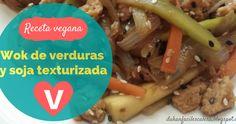 Receta sana vegana con proteina vegetal y verduras muy sabrosa,saludable,fácil y rápida