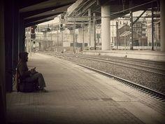 station, man, train, charleroi