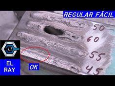 Cómo regular la máquina de soldar, amperaje cualquier material y electrodo - YouTube