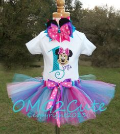 Hey, I found this really awesome Etsy listing at http://www.etsy.com/listing/150824036/minnie-mouse-birthday-outfit-turquoise