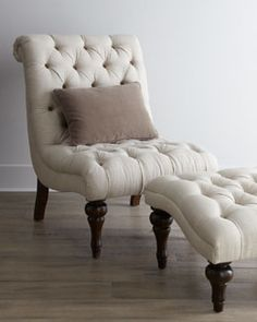I love this chair and ottoman set. Fabric - Chairs & Ottomans - Living Room - Furniture - Horchow