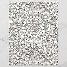 Spend some time relaxing with this coloring page for adults. You can  select paper type and size from the menu. Put the finished coloring page  in a journal or frame it to hang on your wall. Great way to destress. #zazzlemade #coloring #coloringpage #scrapbook #scrapbooking #scrapbookpaper #journal #journaling #journalpaper #coloringforadults