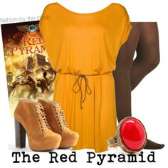 Outfit inspired by Rick Riordan's The Red Pyramid (The Kane Chronicles series)