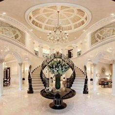 New Living Room Luxury Mansions Große Treppe Ideen Source by Grand Staircase, Staircase Design, Double Staircase, Luxury Staircase, Interior Staircase, Staircase Ideas, Design Case, House Goals, Dream Rooms