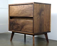 "The "" Gasper"" is a mid century modern nightstand, night stand, bedside table"