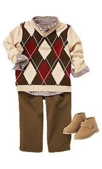 Argyle Baby Boy Outfit