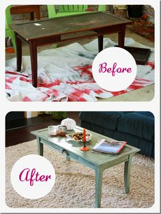 Coffee Table Makeover I actually have this exact coffee table in storage!!
