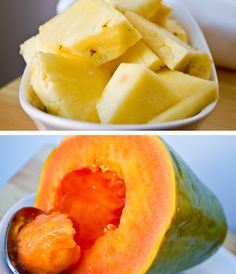 pineapple-papaya..relief from winter allergies/cold virus..AWESOME!!